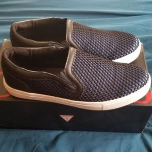 Guess Thompson Slip-On Boat Shoes Mens Sneakers
